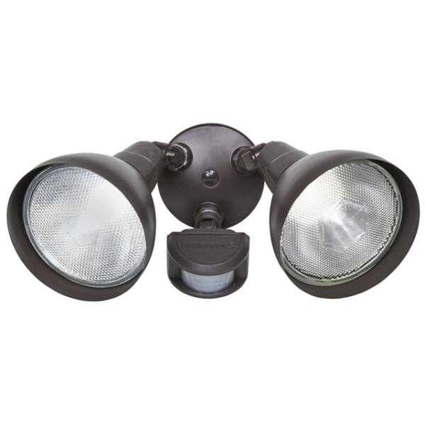 Brinks 180-Degree Dual Head Motion Activated Security Light, Bronze Finish Image