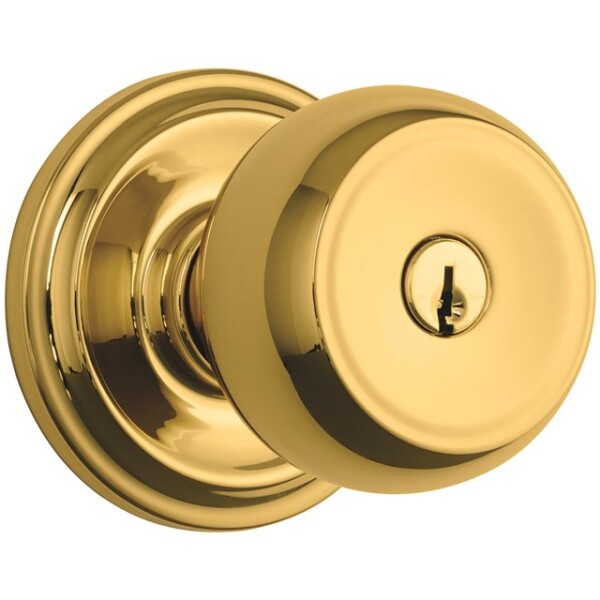 Brink's Push Pull Rotate Stafford Entry Knob in Polished Brass Image
