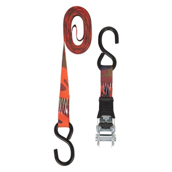 Keeper 12' Blaze Camo Ratchet Tie-Down, 2 Pack Image