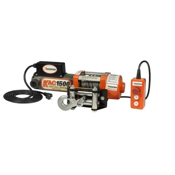 1,500 lbs Capacity 120 V AC 60hz Winch w/Roller Fairlead Image