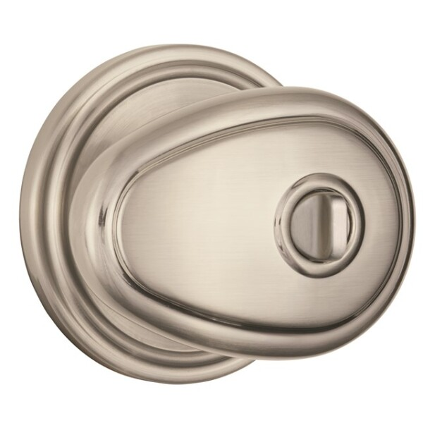 Brink's Push Pull Rotate Lindingham Interior Locking  Knob in Satin Nickel Image