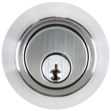 Industrial Duty Commercial Single Cylinder Deadbolt Satin Chrome Finish US26D Image