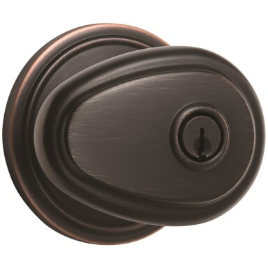 Brink's Push Pull Rotate Lindingham Entry Knob in Tuscan Bronze Image
