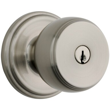 Brink's Push Pull Rotate Ganyon Entry Knob in Satin Nickel Image