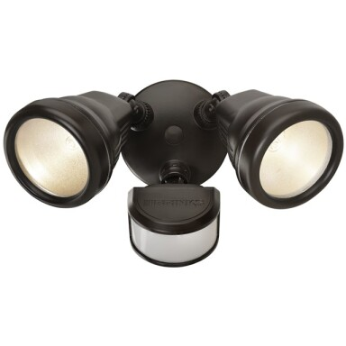 Brink's Dual Head JCD Motion Activated Security Light, Bronze Finish Image